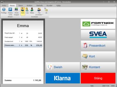 Fortnox integration - JobOffice Kassa Betala