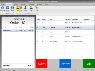 JobOffice Hämta order från Fortnox