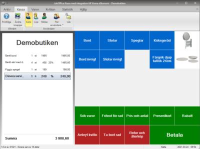 JobOffice Kassa med integration till Visma eEkonomi
