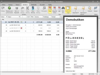 Skapa en order på en kund i JobOffice Kassa med integration till Visma eEkonomi